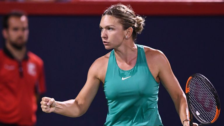 Simona Halep came through her double-header