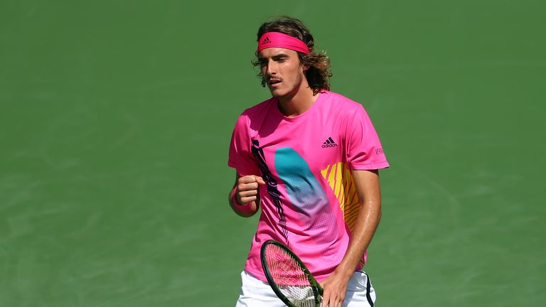 Tsitsipas will play Kevin Anderson for a place in Sunday's final