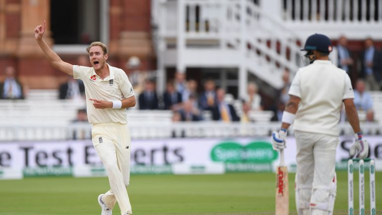 Stuart Broad took four wickets in a spell as England romped to victory
