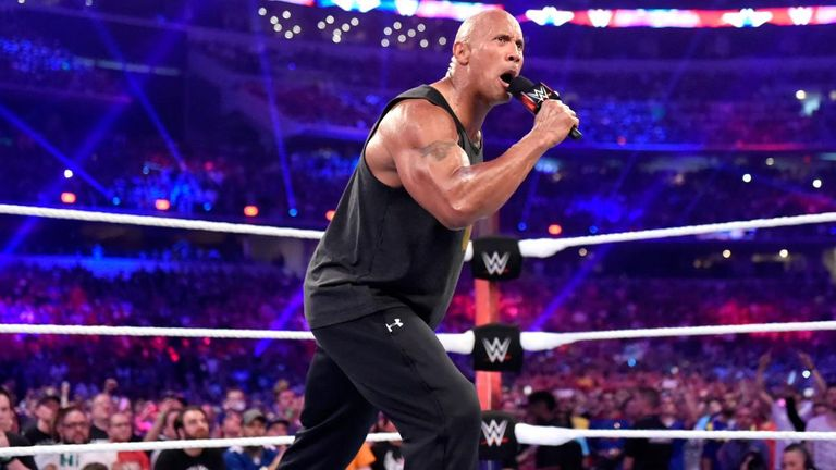 The Rock's most recent WWE match was at WrestleMania two years ago, where he beat Erick Rowan in six seconds