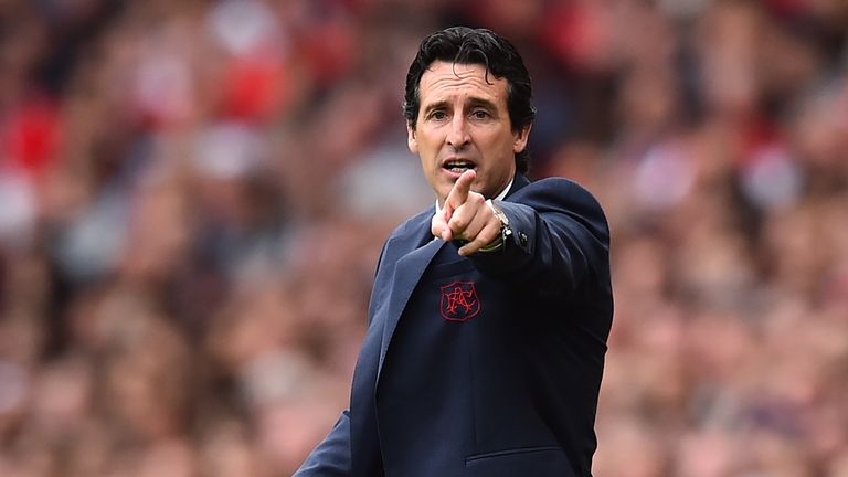 Unai Emery has led Arsenal to eight victories in a row