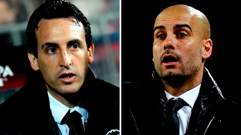 Unai Emery and Pep Guardiola faced each other in Spain