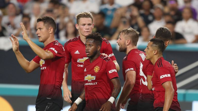 66a5b7cac Alexis Sanchez scored one and set up another as Manchester United ended  their pre-season tour of America with a 2-1 victory over Real Madrid in  Miami.