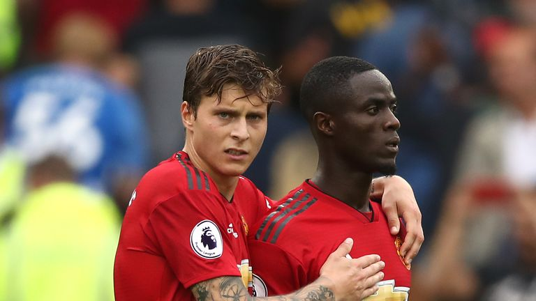 Victor Lindelof started alongside Eric Bailly in their defeat at Brighton