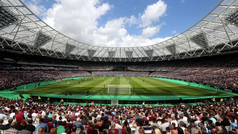 West Ham announced they would move into the stadium in 2013