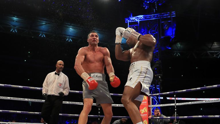 Joshua stopped Klitschko in a back-and-forth encounter