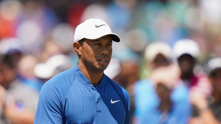 Tiger Woods carded his lowest third round total at a major since 2006