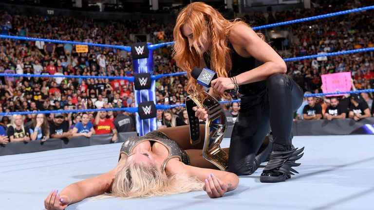 Becky Lynch continues to be cheered by the WWE fans - despite being positioned as the heel in her program with Charlotte Flair