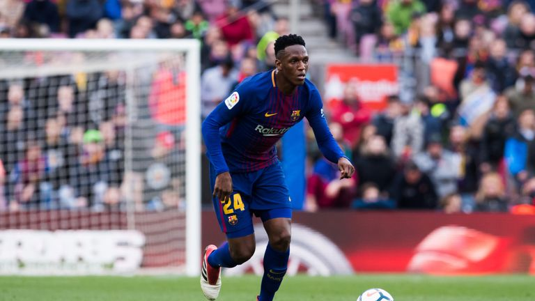 Barcelona's Yerry Mina remains a target for Everton