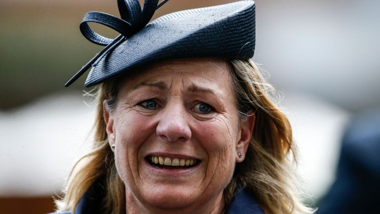 Trainer Eve Johnson  Houghton - can strike at Brighton on Thursday