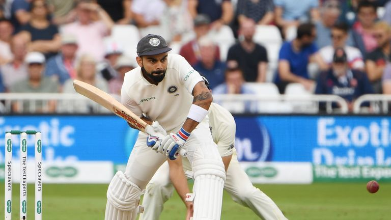 Virat Kohli averages 73.33 in the series after scoring his second ton in three Tests