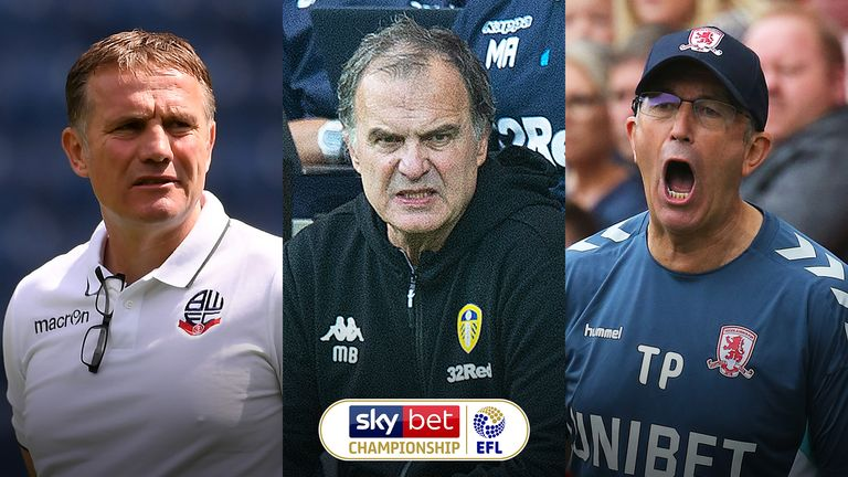 Sky Bet Championship Manager of the Month contenders