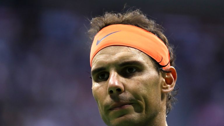 Rafael Nadal was bidding for his 18th Grand Slam title