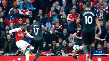 Alexandre Lacazette fired Arsenal ahead with a fine strike