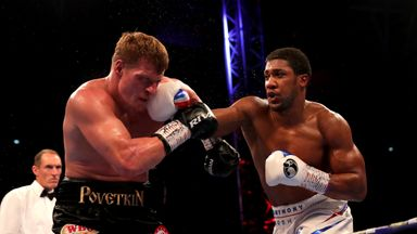 Anthony Joshua defends world titles with knockout of Alexander Povetkin