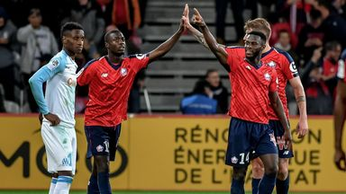 Jonathan Bamba scored twice for Lille against St Etienne
