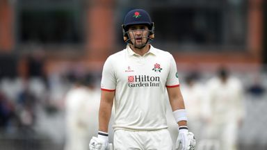Liam Livingstone was bowled for 46 as Lancashire's relegation was confirmed