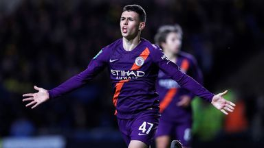 Phil Foden scored his first goal for Man City