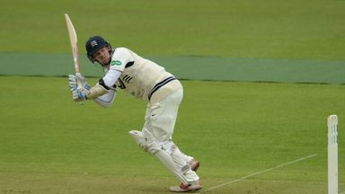 Sam Robson struck his first century of the season for Middlesex