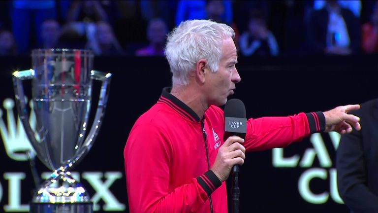 McEnroe vowed to win the Laver Cup for Team World in Geneva next year