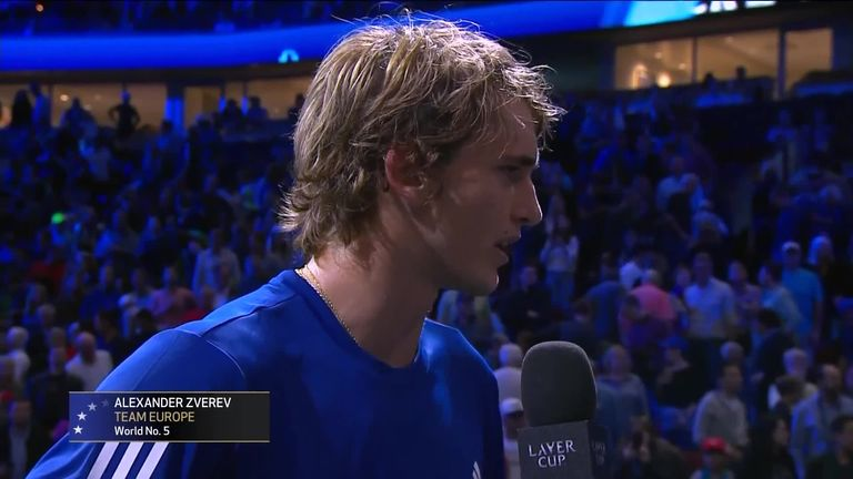 Zverev admitted his victory over big-serving Isner was 'intense'