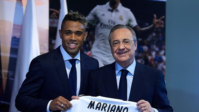 Florentino Perez, right, has been criticised for his work in the transfer market