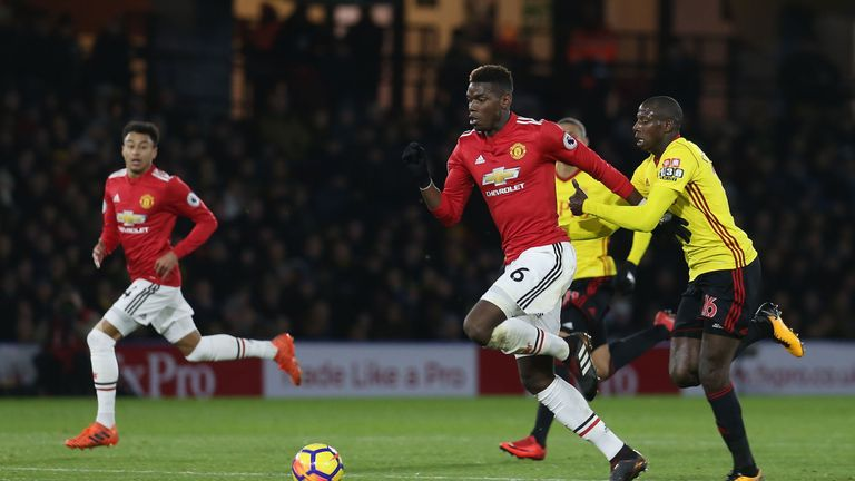 Abdoulaye Doucoure will be paying close attention to Paul Pogba when Watford face Manchester United on Saturday