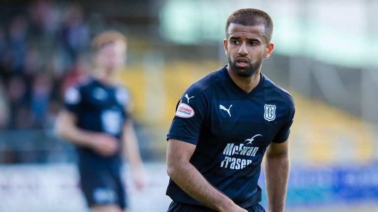 Adil Nabi has made six first team appearances for Dundee since joining in the summer.