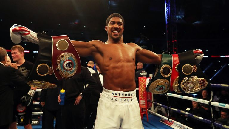 Joshua most recently defended his four world titles against former world champion Alexander Povetkin in September