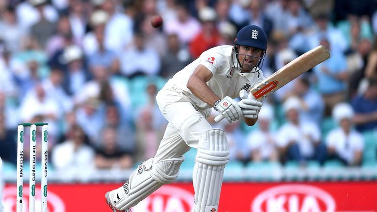 Alastair Cook made 71 at The Oval in his final Test