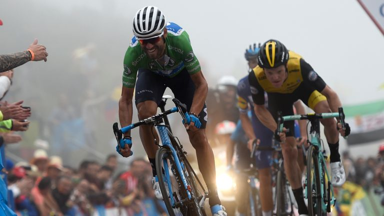 Second-placed Alejandro Valverde is now 26 seconds behind Yates in the general classification
