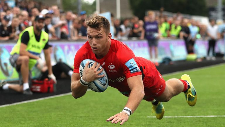 Alex Lewington was on the scoresheet again as Saracens beat Sale