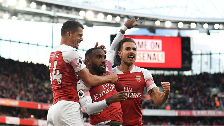 Arsenal are up to sixth in the Premier League after four straight wins