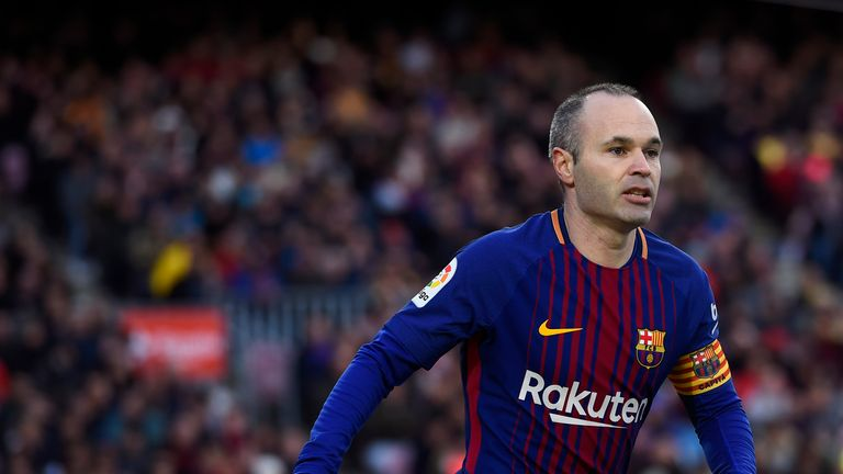 Foden says Andres Iniesta is 'on a different planet'