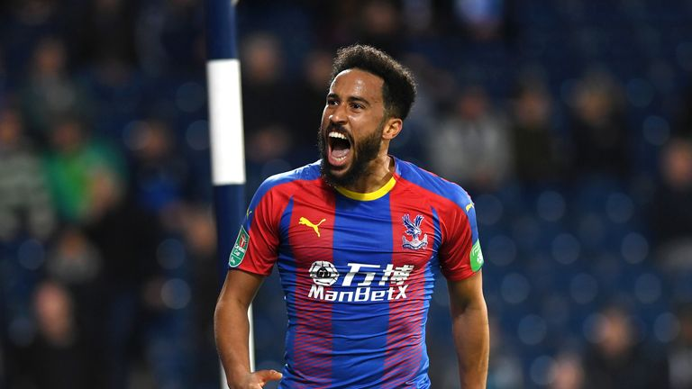 Townsend found the net from 30 yards for Crystal Palace against West Brom