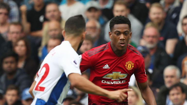 Anthony Martial has made just one appearance for United this season
