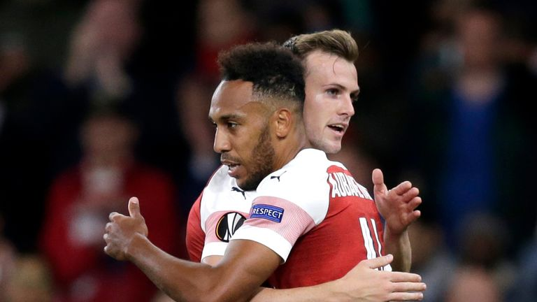 Pierre-Emerick Aubameyang scored twice at the Emirates