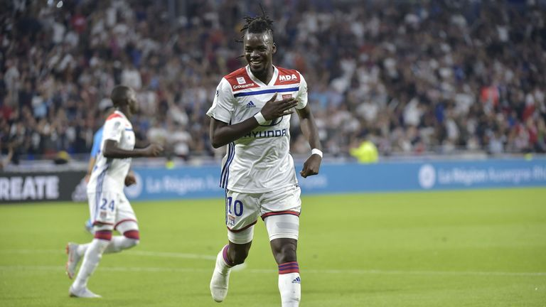 Former Chelsea striker Bertrand Traore scored twice as Lyon beat Marseille 4-2