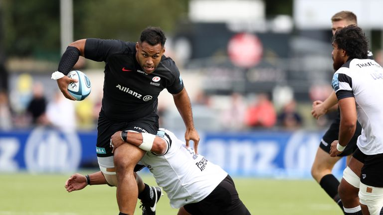 Billy Vunipola scored a try on his return from injury for Saracens