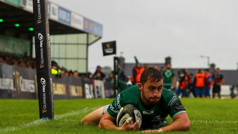 Caolin Blade was among the try scorers for Connacht in their success over Zebre