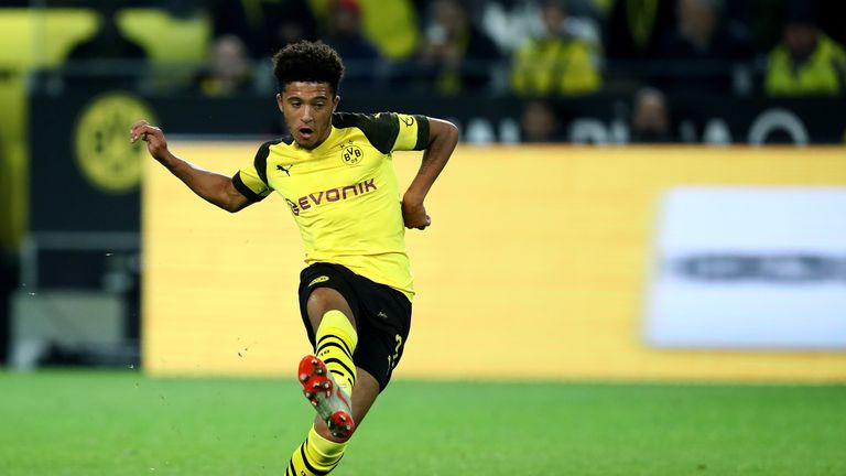 Jadon Sancho netted his first Borussia Dortmund goal of the season against Nuremburg
