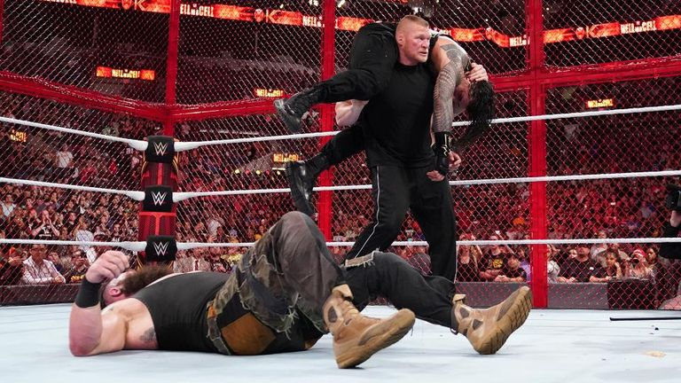 Brock Lesnar invades Hell In A Cell - Jersey Peeps Social ...