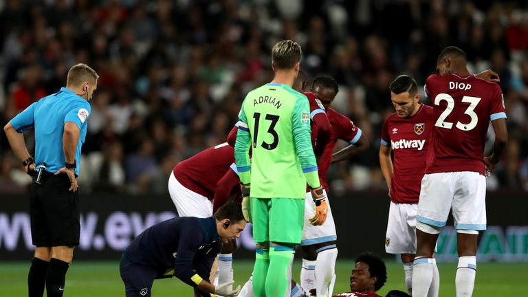 Sanchez sustained the injury during the 8-0 thumping of Macclesfield in the Carabao Cup