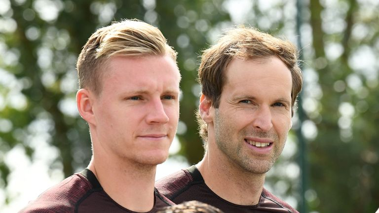 Carragher thinks Bernd Leno's arrival at Arsenal has boosted the performances of Cech