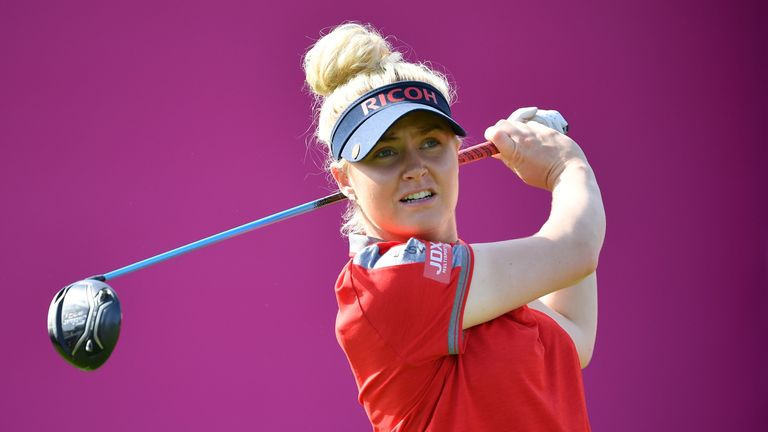 Charley Hull recovered from a bad start to fire a 67