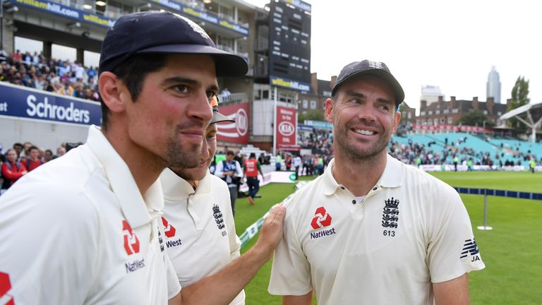 Alastair Cook hailed James Anderson as England's greatest ever player after the Oval Test