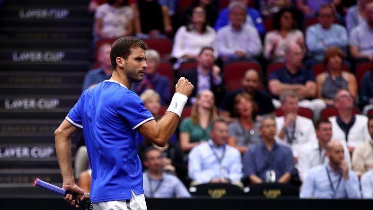 Dimitrov v Tiafoe: Highlights of the opening Laver Cup match