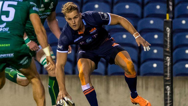 Edinburgh's Duhan van der Merwe is one of three uncapped players selected