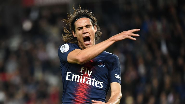 Edinson Cavani scored twice in PSG's win