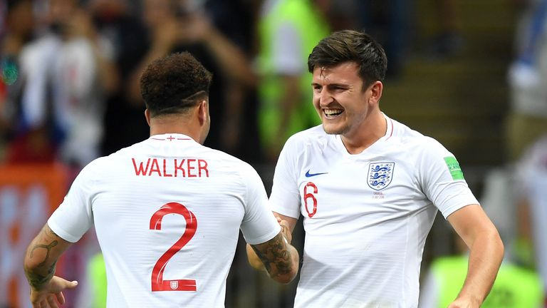 Kyle Walker(left) and Harry Maguire were both born in Yorkshire and the Humber